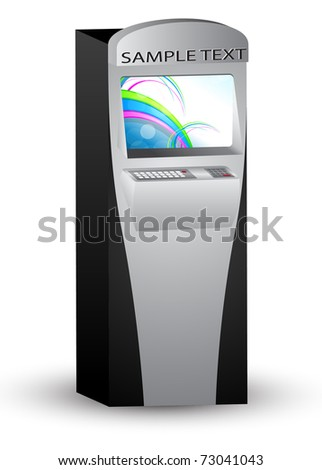Atm. Vector illustration. - stock vector