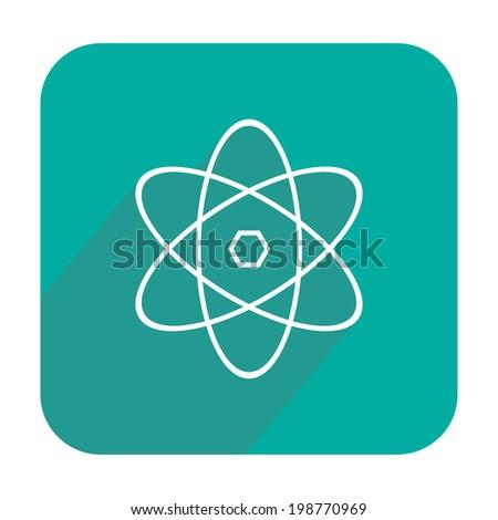 Atom icon - stock vector