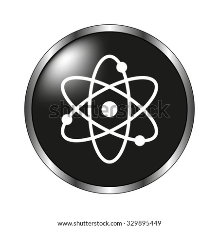 atom icon - vector button