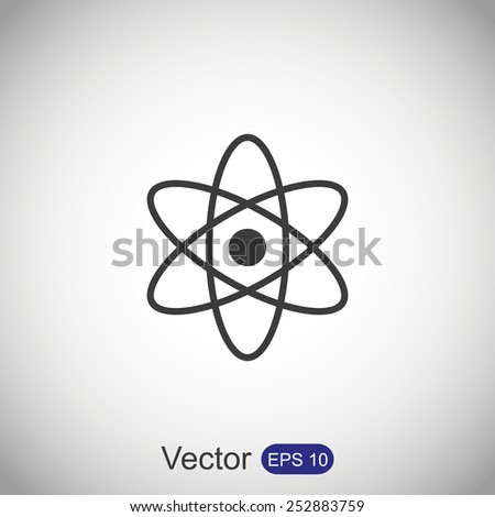 Atom sign icon - stock vector