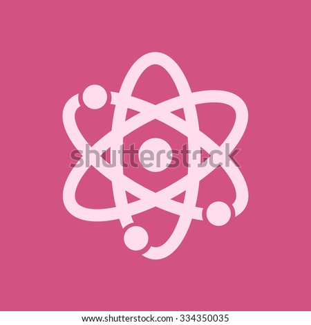 Atom sign simbol. Atom part icon. - stock vector