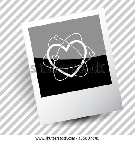atomic heart. Photoframe. Vector icon. - stock vector