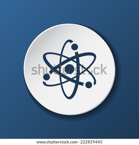atomic paper icon with shadow. Vector illustrations. - stock vector