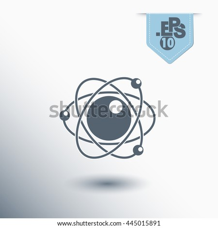 atomic particle - stock vector