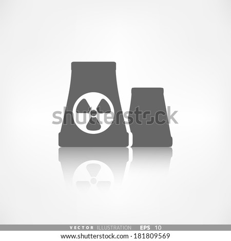 atomic power station icon - stock vector