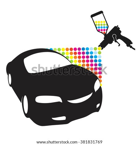 Atomizer for painting car vector - stock vector