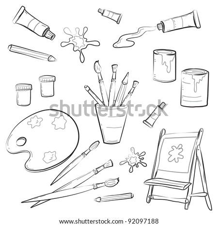 Atrists Tools - stock vector