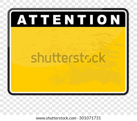 attention - stock vector