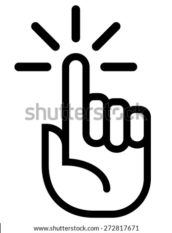 Attention finger vector icon - stock vector