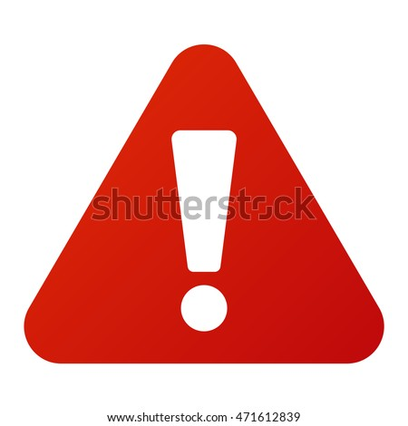 Attention icon danger button and attention warning sign