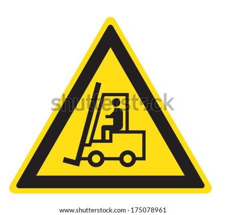 Attention lift-truck - stock vector