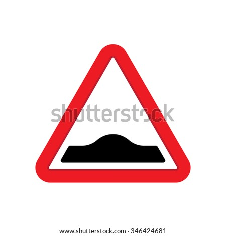 Attention sign, Traffic sign with bumps symbol - stock vector