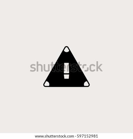 Attention Vector Icon Symbol Hazard Simple Stock Vector 597152981