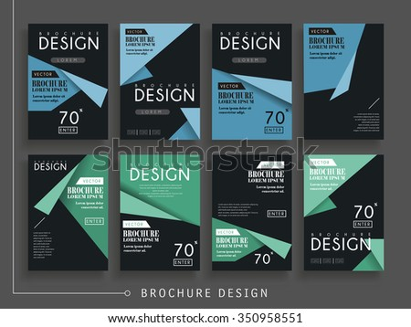 attractive brochure designs - folding paper stock photos royalty free images vectors