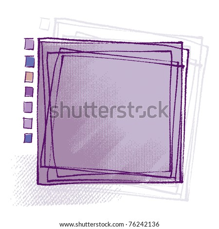 Attractive universal design, for backgrounds, framing etc. (chalk technique, painterly textured grunge vector)