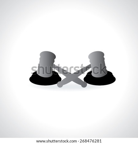 auction and hammer for justice vector illustration  - stock vector