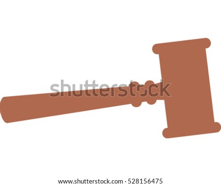Auction Hammer. Vector Illustration Icon.