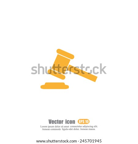 auction vector icon - stock vector