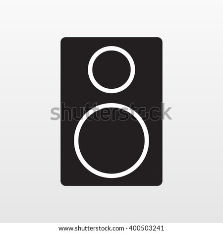 Audio acoustic icon. Audio acoustic vector. Audio acoustic stereo. Audio acoustic black. Audio acoustic illustration. Audio acoustic flat. Audio acoustic logo. Audio acoustic object. Audio acoustic. - stock vector