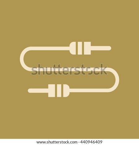 Audio Cable or Jack Cable Icon. Eps-10. - stock vector