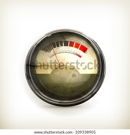 Audio Gauge, old-style vector isolated - stock vector