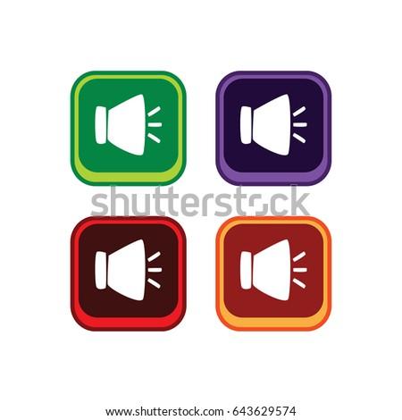 Audio Music Color App Icon Button Stock Vector 643629574 - Shutterstock