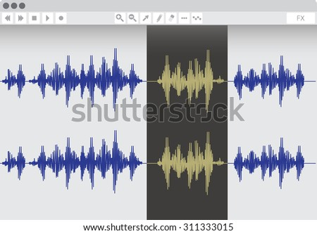 Audio software, vector illustration - stock vector