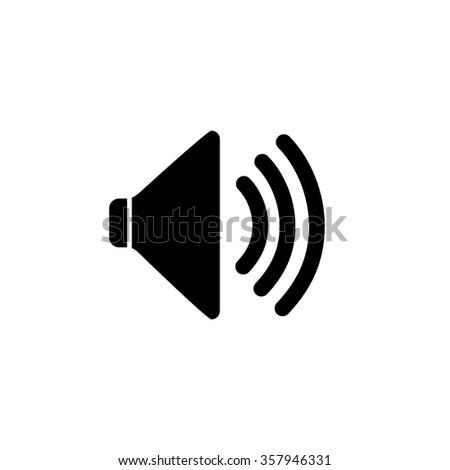 Audio Speaker Volume Icon black.Audio speaker jpg.Audio speaker eps 10.Audio speaker flat.Audio speaker app.Audio speaker web.Audio speaker UI stock vector.Audio speaker picture - stock vector