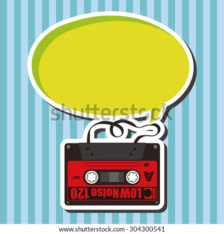 Audiotape theme elements vector,eps