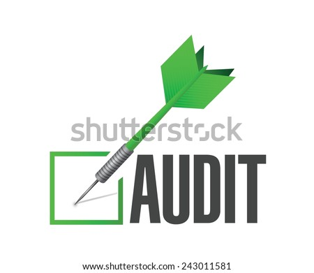 audit check dart illustration design over a white background - stock vector