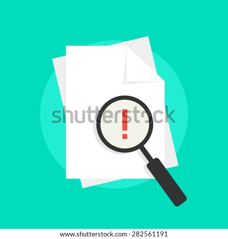 audit emblem with white sheets. concept of success, confirm, loss, infringement, violation, accountant, invoice. isolated on green background. flat style trend modern logo design vector illustration - stock vector