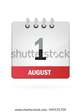 August One. Calendar Icon