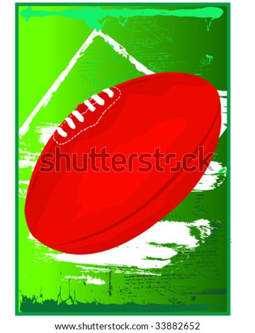 Aussie Rules Football - stock vector