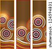 Australia Aboriginal art vector Banners - stock vector