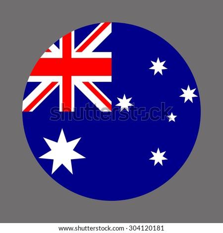 australia circle flag vector icon stock vector royalty free