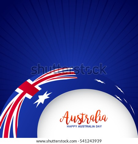 Australia day poster or banner background.