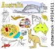 Australia Doodles - stock vector