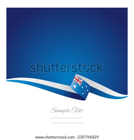 Australia flag abstract color background vector - stock vector
