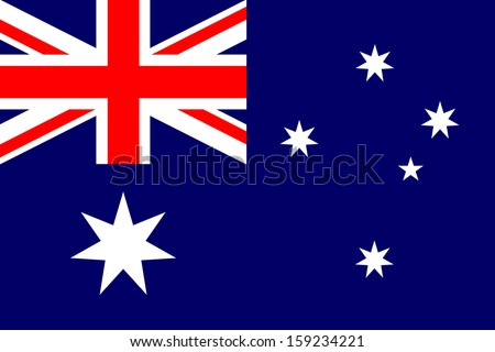 Australia flag isolated vector Proportion 2:3 - stock vector