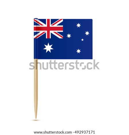 Australia flag toothpick on white background 10eps