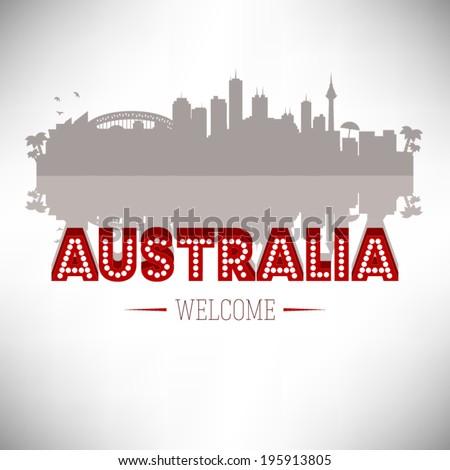 Australia Greeting card vector design. - stock vector