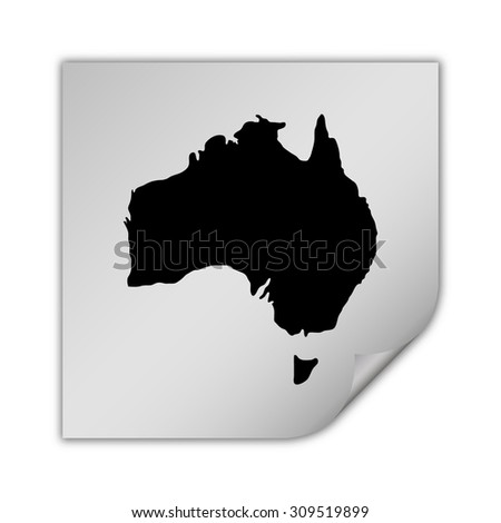 Australia map vector icon