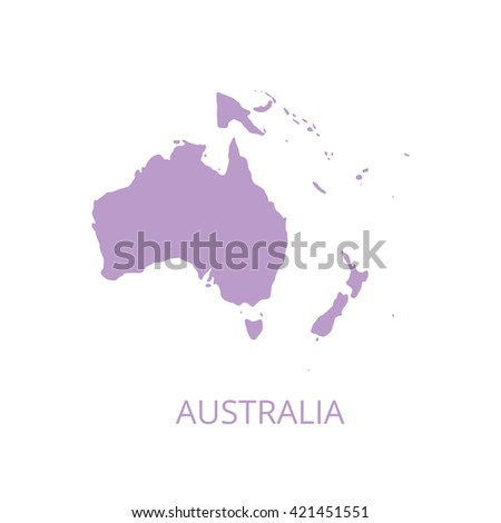 Australia map. Vector illustration.