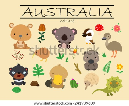 australia nature - stock vector