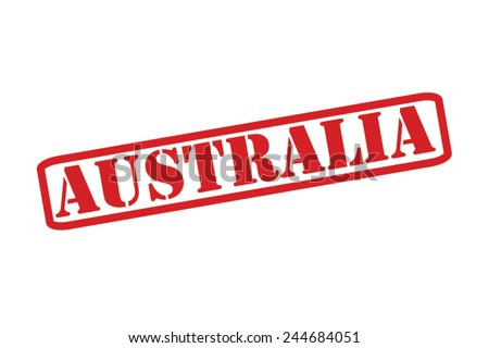 AUSTRALIA Red Rubber Stamp vector over a white background. - stock vector