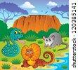 Australian animals theme 6 - vector illustration. - stock vector