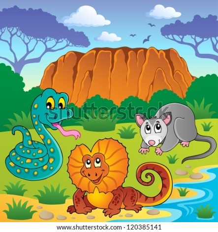 Australian animals theme 6 - vector illustration. - stock vector