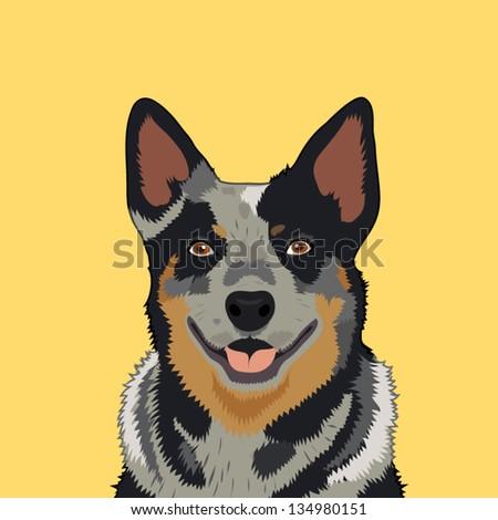 Australian cattle dog, The buddy dog - stock vector