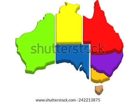 australian map.  - stock vector