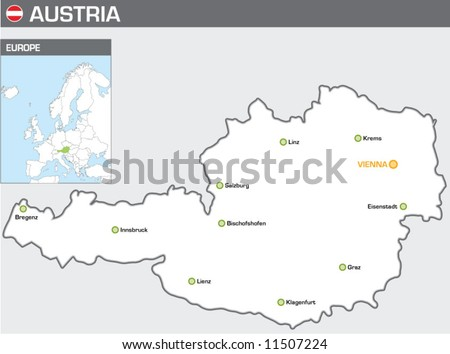 Austria - stock vector